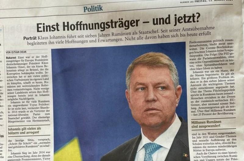 """Publicație germană : Klaus Iohannis este considerat arogant și văzut drept """"Mutul"""" de către români"""
